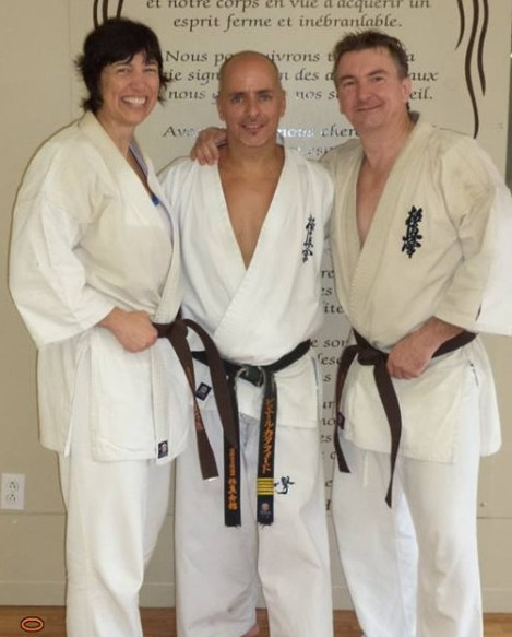 Proudly wearing our new brown belts