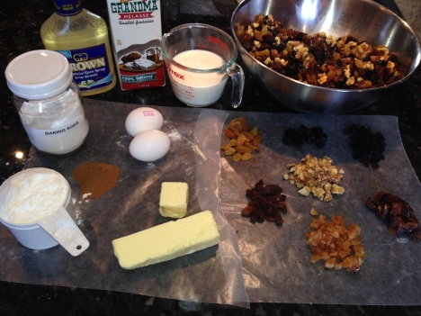 Fruitcake ingredients