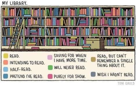 Literary cartoon by Tom Gauld