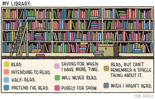 Literary cartoon by Tom Gauld