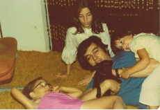 Sonny with the girls & Juanita