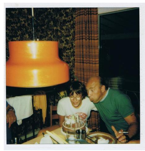 Tracy & Dad, Birthday Buds