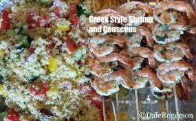 Greek style shrimp & couscous