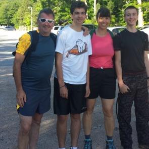 Before climbing Mt. Washington July 2014