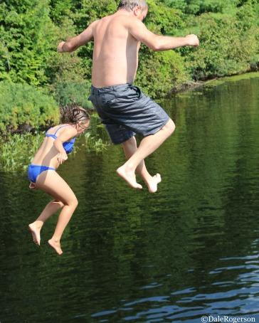 Illegal jumping of bridge