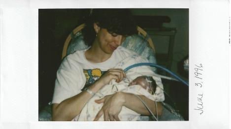 Polaroid taken by nurse in NICU