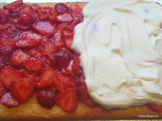French Strawberry Shortcake in the making