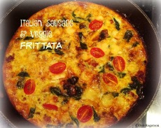 Italian Sausage & Veggie Frittata