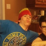 Cousins clowning around