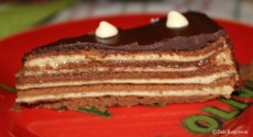 Isabelle's multi-layered chocolate-crêpe cake