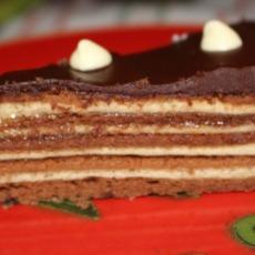 Isabelle's multi-layered chocolate-crêpe cake