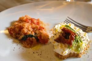Tuscan Tomato soup & Savoury Ricotta Cheesecake
