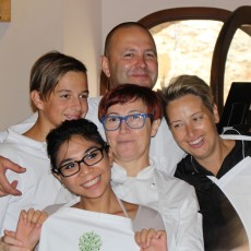 Clockwise from left, Giovanni, Simone, Elena, Sandra, Kathleen