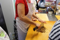 Moi chopping almonds