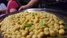 Gnocchi with olive oil and basil