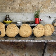 Tuscan bread cooling off