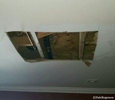 Ceiling in dining room