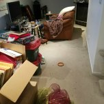 The mess to be cleared