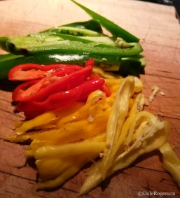 Mixture of hot peppers
