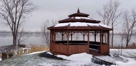 Gazebo - standing out in the drab