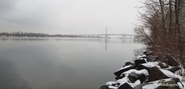 View of the new Samuel de Champlain Bridge