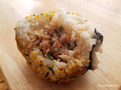 Salmon & Shrimp Onigiri made by my son and his friend