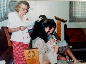 Reading at Austin's baptism, July 1996