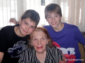 January 2011 with her grandsons
