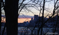View of Old Montreal at sunset